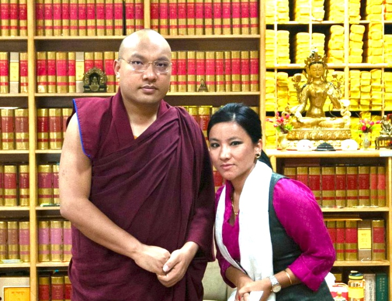 At a private audience with H.H. the Karmapa